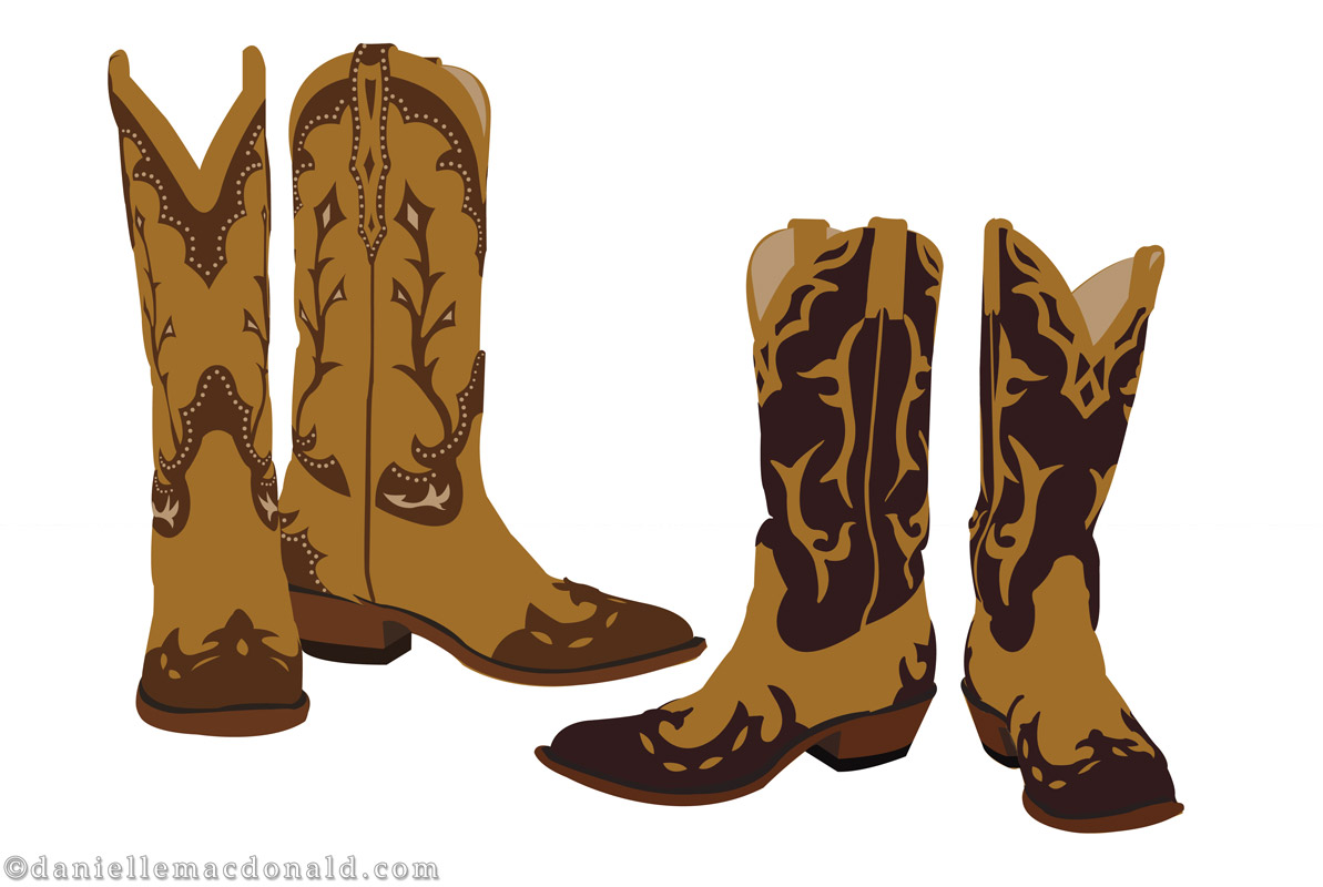 Cowboy Boots Vector   Www.imgkid.com - The Image Kid Has It!
