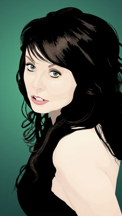 Vector of soprano singer Sarah Brightman vectored in Adobe Illustrator by Danielle MacDonald
