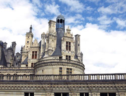 Photograph of one of the towers of Chateau de Chambord in France. Photo by Danielle MacDonald